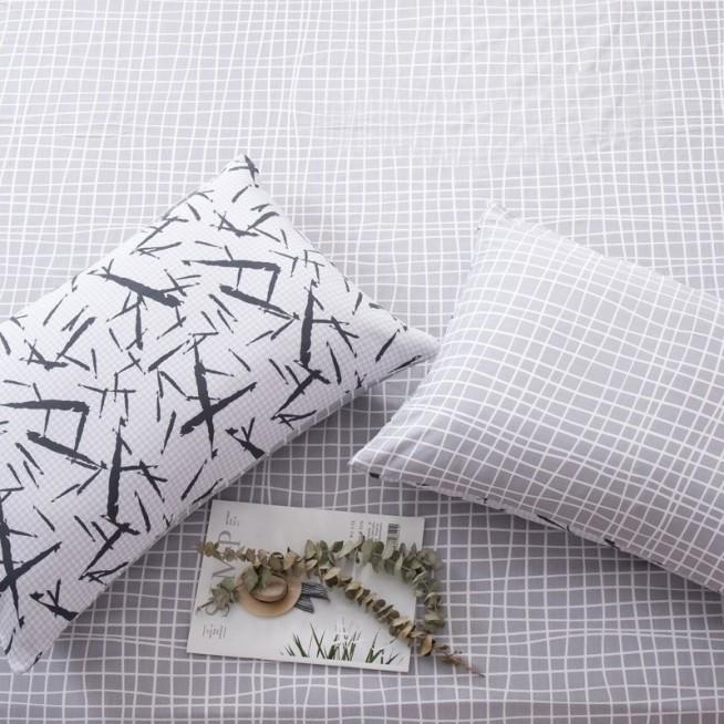 белье постельное Люкс сатин AR077 семейное простынь на резинке Ситрейд