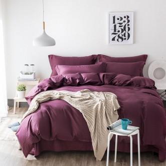 Однотонное постельное белье страйп сатин простынь на резинке CFR011 2 спальное 180х220 СИТРЕЙД