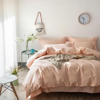 Однотонное постельное белье страйп сатин простынь на резинке CFR007 2 спальное 180х220 СИТРЕЙД