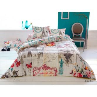 Постельное белье Satin Lux Париж семейное 449-SL Cleo