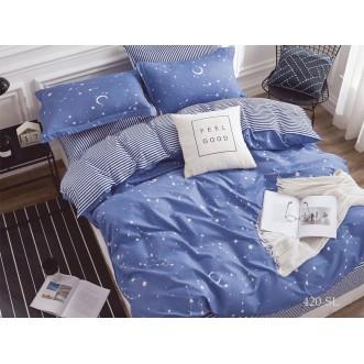 Постельное белье Satin Lux Созвездия семейное 420-SL Cleo
