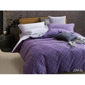 Постельное белье Satin Lux Паркет фиолетовый семейное 204-SL Cleo