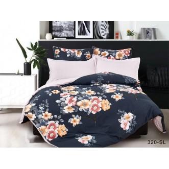 Постельное белье Satin Lux Ночной цветок семейное 320-SL Cleo