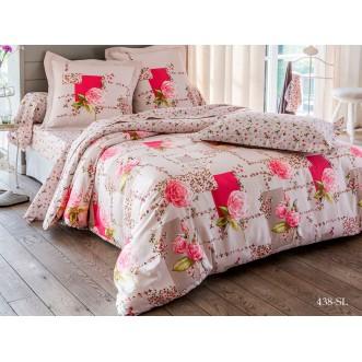Постельное белье Satin Lux Аннет 2 спальное 438-SL Cleo