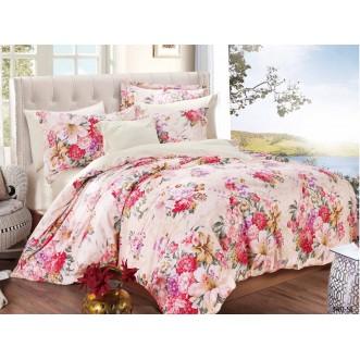 Постельное белье Satin Lux Райский сад 2 спальное 340-SL Cleo