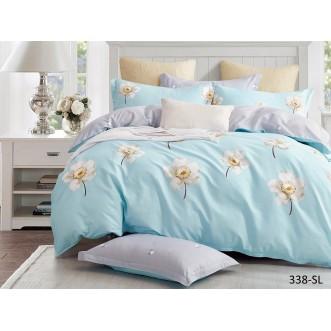Постельное белье Satin Lux Цветочная нежность 2 спальное 338-SL Cleo
