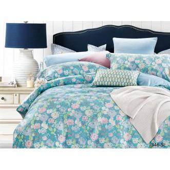 Постельное белье Satin Lux Цветочный вальс 1/5-спальное 346-SL Cleo