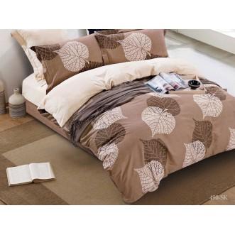 Постельное белье Satin de Lux Листва 1/5-спальное 490-SK Cleo