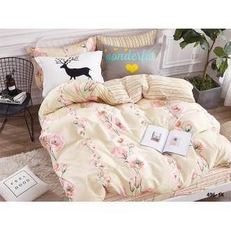 Постельное белье Satin de Lux Розовый мак 1/5-спальное 496-SK Cleo
