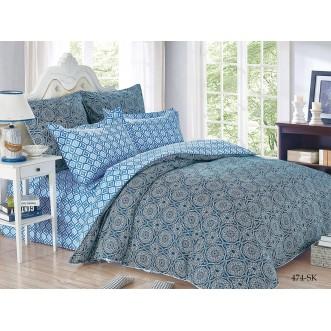 Постельное белье Satin de Lux Маркон голубой 1/5-спальное 474-SK Cleo