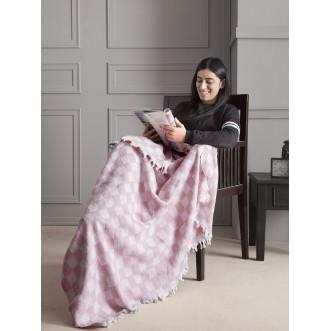 Плед хлопок Isabella розовый 130х150 3234/CHAR008 Karna