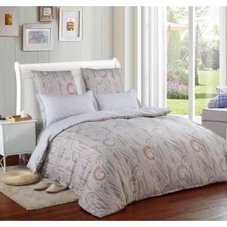 Постельное белье сатин вышивка  CN025 2 спальное СИТРЕЙД