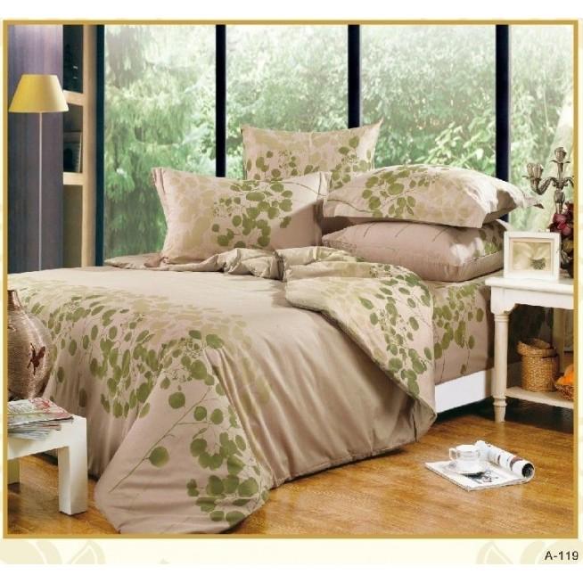 Постельное белье поплин 1,5-спальное A-119 Сайлид