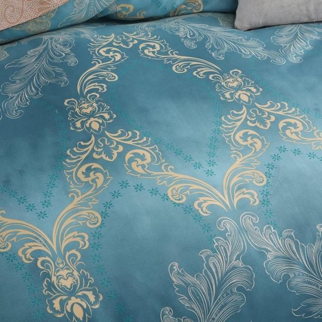 Белье постельное сатин вышивка CN033 2 спальное СИТРЕЙД