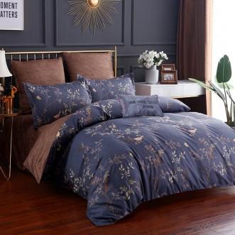Постельное белье сатин вышивка  CN035 2 спальное СИТРЕЙД