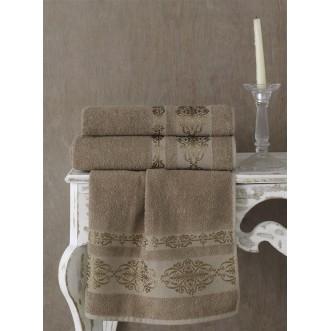 Полотенце махровое Rebeka кофейное Karna