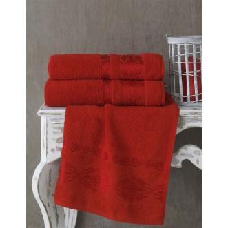 Полотенце махровое Rebeka красное Karna