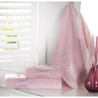 Полотенце махровое Sahra розовое Karna