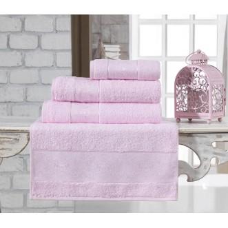 Полотенце бамбуковое Pandora светло розовое Karna