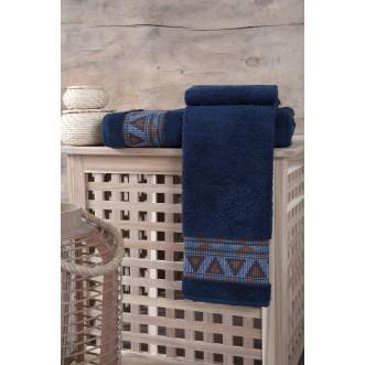 Полотенце махровое Giza синиее Karna