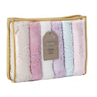 Набор махровых полотенец Esra Karna