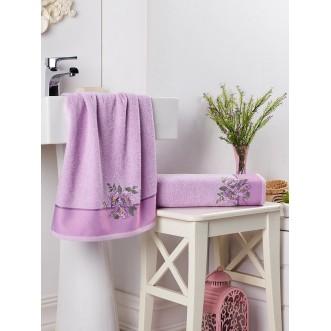 Набор махровых полотенец Florya сиреневый Karna