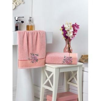 Набор махровых полотенец Florya пудра Karna