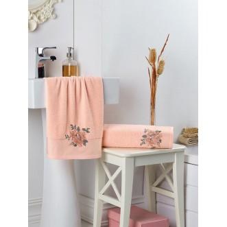 Набор махровых полотенец Florya абрикосовый Karna