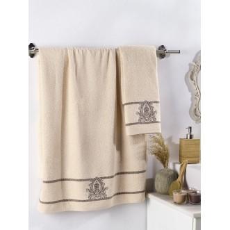 Набор махровых полотенец Davin бежевый Karna