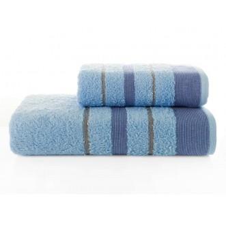 Набор махровых полотенец Regal голубой Karna