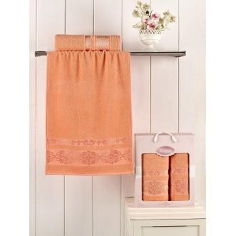 Набор махровых полотенец Rebeka абрикосовый Karna