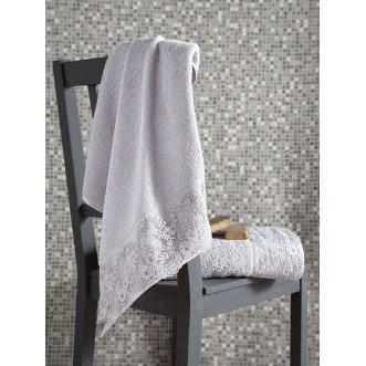 Набор махровых полотенец Elinda бежевый Karna