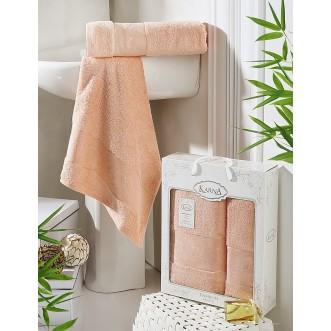 Набор махровых полотенец Pandora абрикосовый Karna