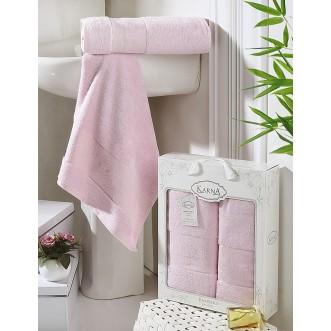 Набор махровых полотенец Pandora светло розовый Karna