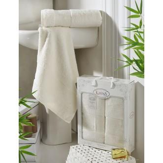 Набор махровых полотенец Pandora кремовый Karna