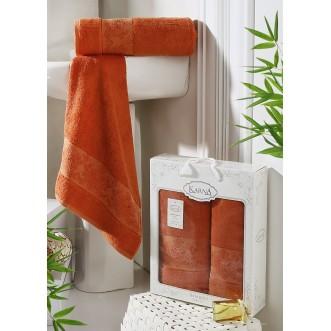 Набор махровых полотенец Pandora кирпичный Karna