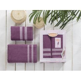 Набор махровых полотенец Petek лаванда Karna