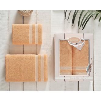 Набор махровых полотенец Petek абрикосовый Karna
