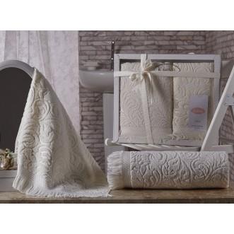 Набор махровых полотенец Esra кремовый Karna