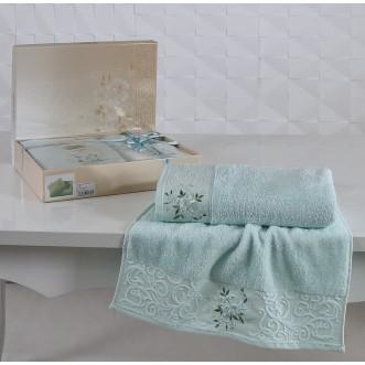 Набор махровых полотенец Viola светло зеленый Karna