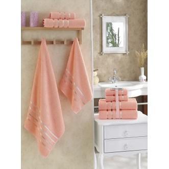 Набор махровых полотенец Bale абрикосовый Karna