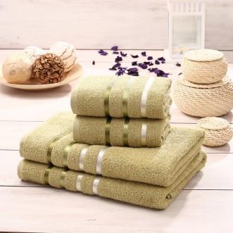 Набор махровых полотенец Bale зеленый Karna