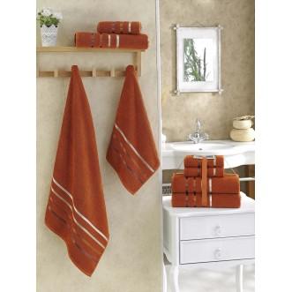 Набор махровых полотенец Bale кирпичный Karna