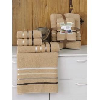 Набор махровых полотенец Bale горчичный Karna