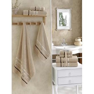 Набор махровых полотенец Bale бежевый Karna