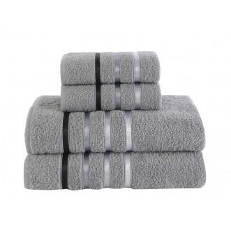 Набор махровых полотенец Bale серый Karna фото
