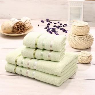 Набор махровых полотенец Bale светло зеленый Karna