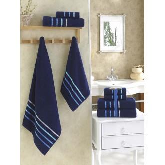 Набор махровых полотенец Bale синий Karna