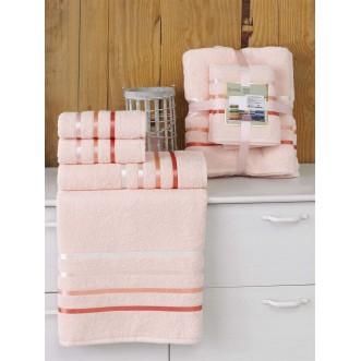 Набор махровых полотенец Bale пудра Karna