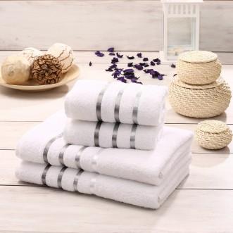 Набор махровых полотенец Bale белый Karna